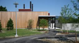 The biomass heating facility at Bennington College