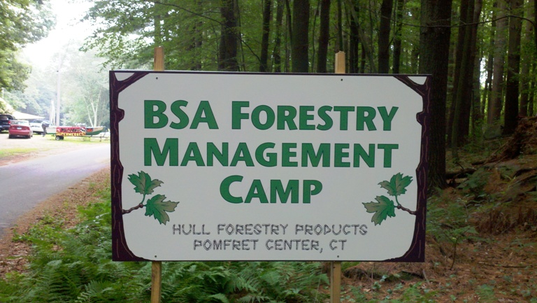 Scout Forestry Management Camp at Camp Tadma, CT