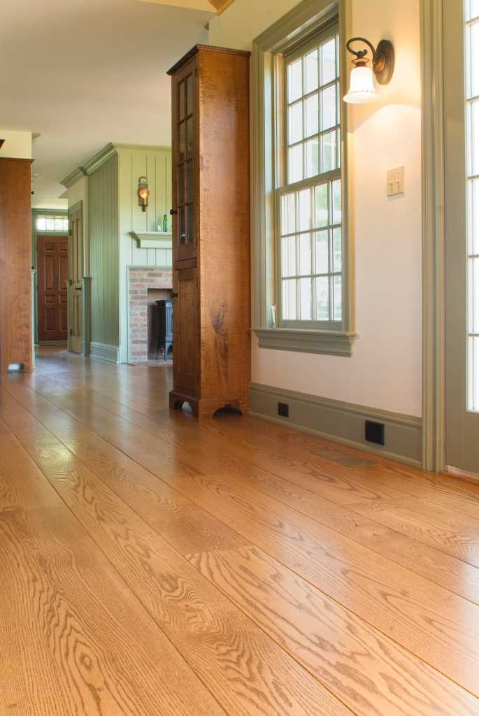 Red Oak wide plank flooring, Norwich, Connecticut