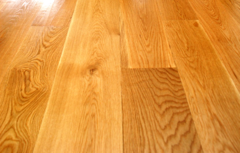 white oak select with a clear oil based poly finish