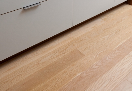 White Oak with a water-based poly finish.