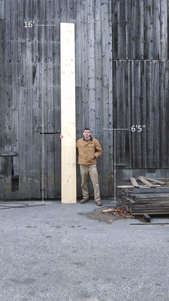 length shot eastern white pine floorboard