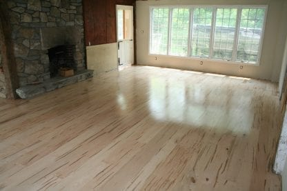 example of spalted ambrosia maple wood flooring
