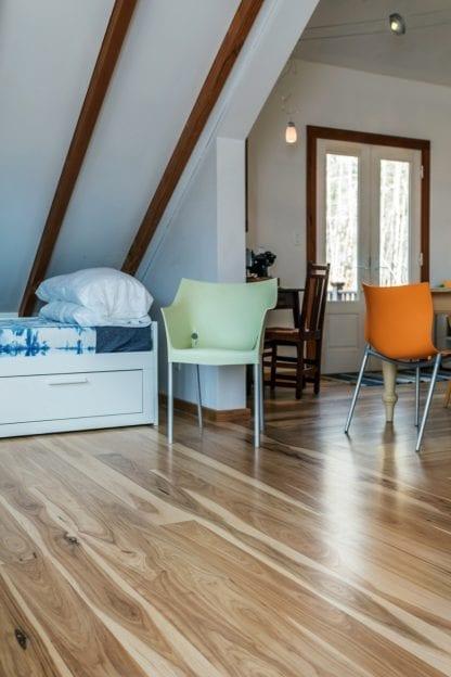 Hickory select grade custom wood flooring