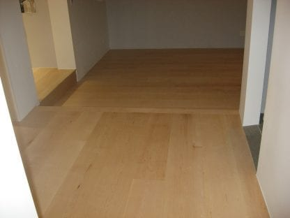 Maple wide plank flooring - select sap