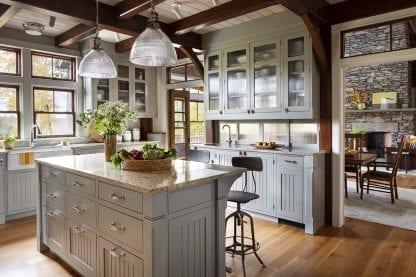 white oak quarter and rift sawn kitchen wood floor