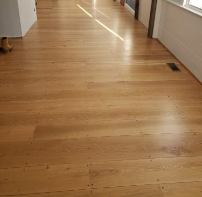 select white oak top nailed flooring