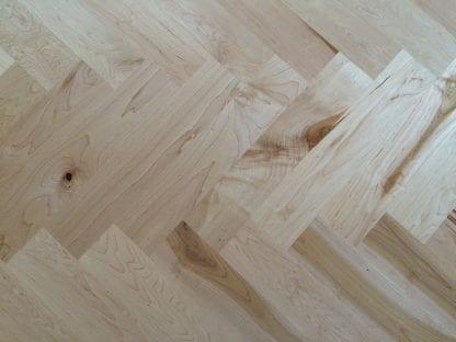 Maple floor herringbone pattern