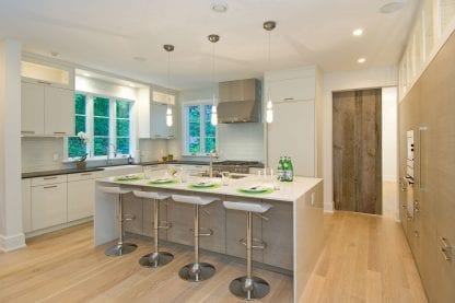 White oak select grade kitchen floor