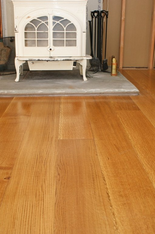 Quartersawn white oak flooring from Hull Forest Products.