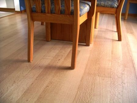 Quarter/rift sawn white oak with a clear water-based poly finish.