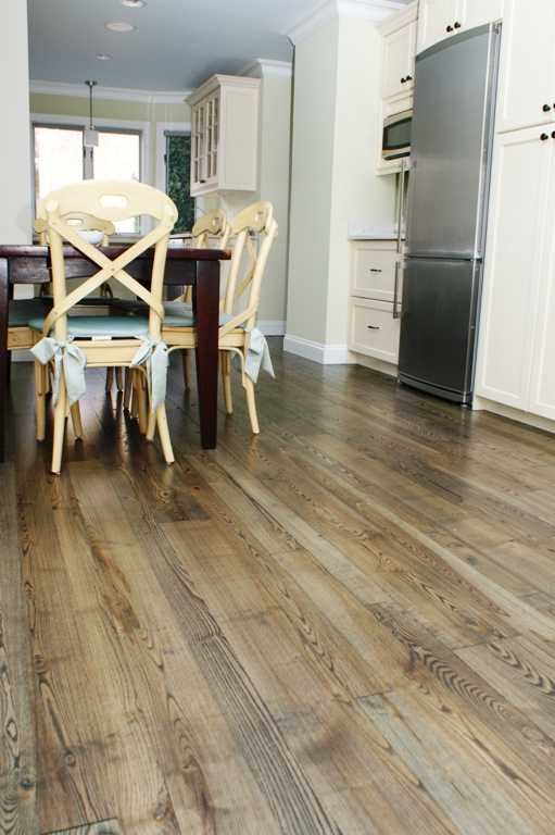 wide plank ash kitchen floor from Hull Forest Products