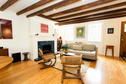 Ash select grade hardwood flooring in a Brooklyn Heights home