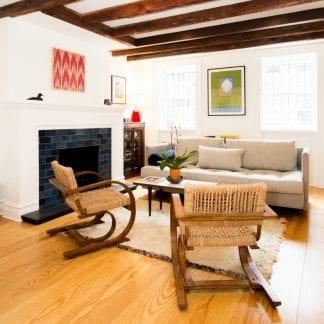 Ash select grade hardwood flooring in a Brooklyn Heights home