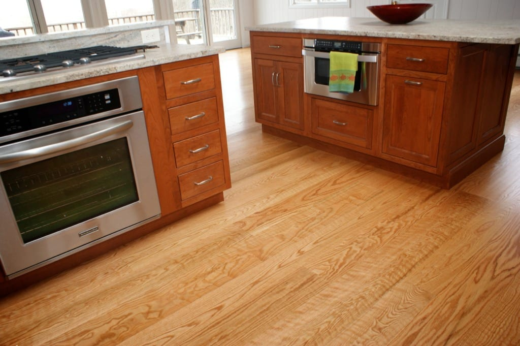 Red Oak Wide Plank Flooring Curly Select