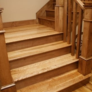Curly/Tiger Maple Flooring - Natural