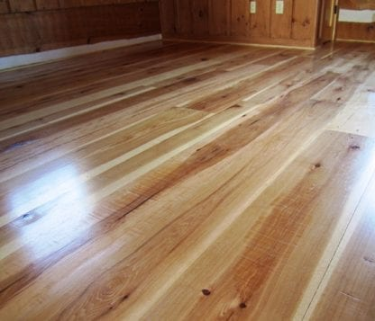 Hickory Wide Plank Flooring - Natural Grade