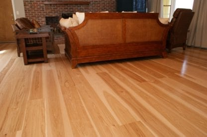 Hickory Wide Plank Flooring - Select Grade