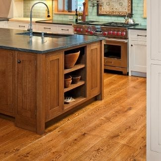 live sawn white oak kitchen floor